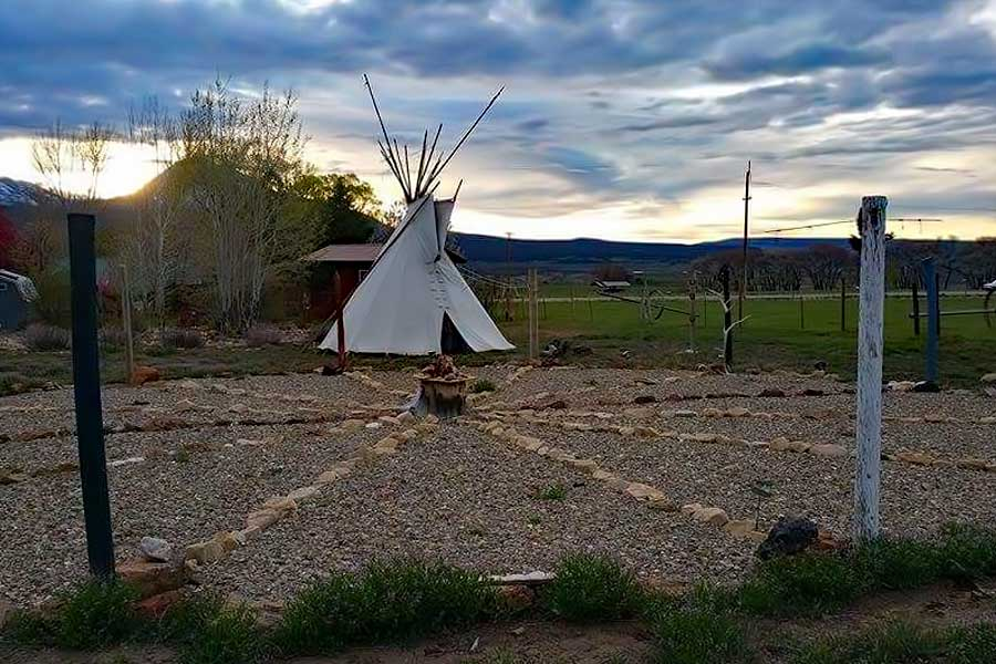The Medicine Wheel at Grizzly Roadhouse Bed & Breakfast and Vacation Rentals in Cortez, Colorado